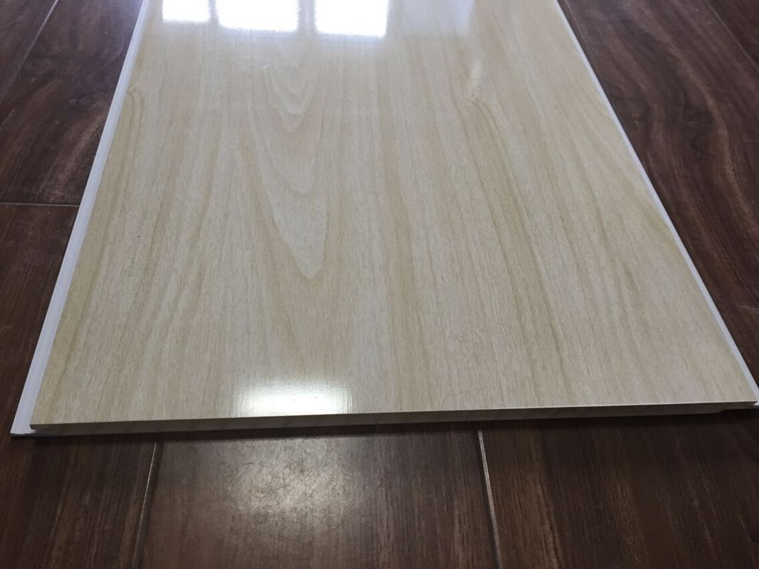 Wood Grain Bathroom PVC Ceiling Panels Seamless Connection 3.5kg / m2 30cm x 9mm